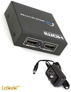 موزع HDMI 1.4 - موزعين HDMI - وضوح 1080 بكسل - 3D - أسود