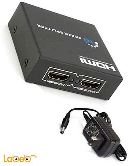 موزع HDMI 1.4 موزعين HDMI وضوح 1080 بكسل يدعم 3D لون أسود