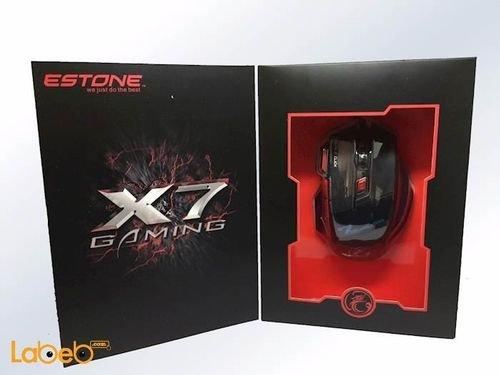 ماوس ألعاب ماركة ايستون 7 مفاتيح 2400DPI لون اسود موديل x7