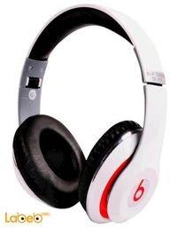 سماعة راس لاسلكية Beats بلوتوث 2.1 أبيض موديل TM-010