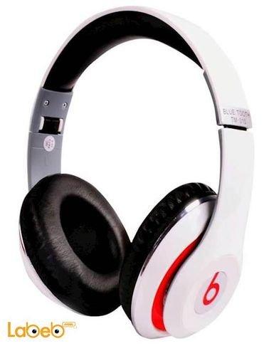 سماعة راس لاسلكية Beats - بلوتوث 2.1 - أبيض - موديل TM-010