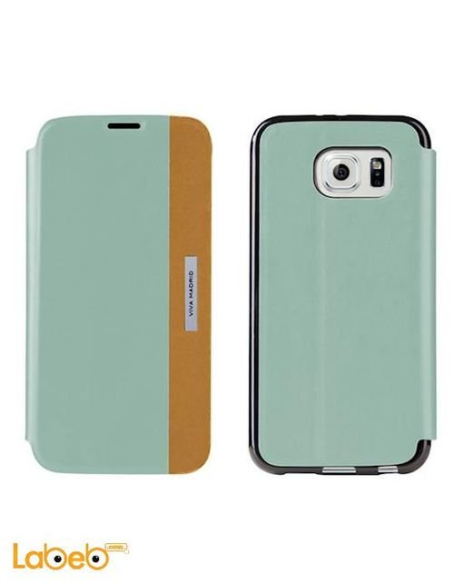 Viva madrid cover for Galaxy S6 Blue and Orange VIVA-SGS6SBS-LUCBUSBS-LUCBU