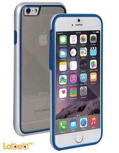 Viva madrid case - for iPhone 6 - Transparent with blue frame