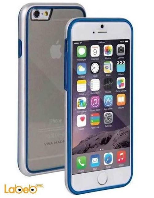 Viva madrid case for iPhone 6 Transparent with blue frame