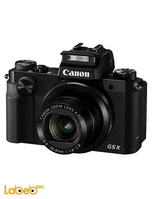 كاميرا كانون الرقمية حجم 3 بوصة لون أسود موديل PowerShot G5X