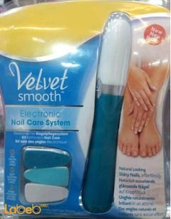 Velvet smooth electronic nail care system - Blue color