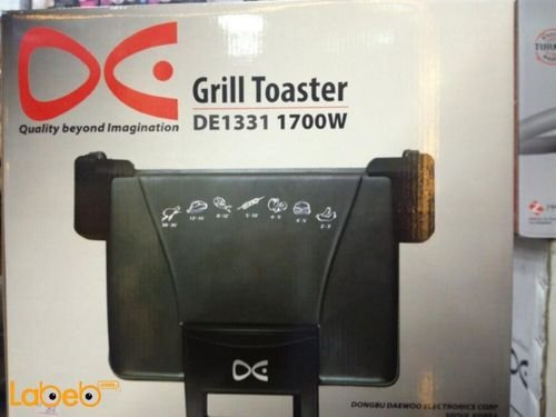 Daewoo Grill Toaster 1700Watt 5 working positions Black DE1331 model