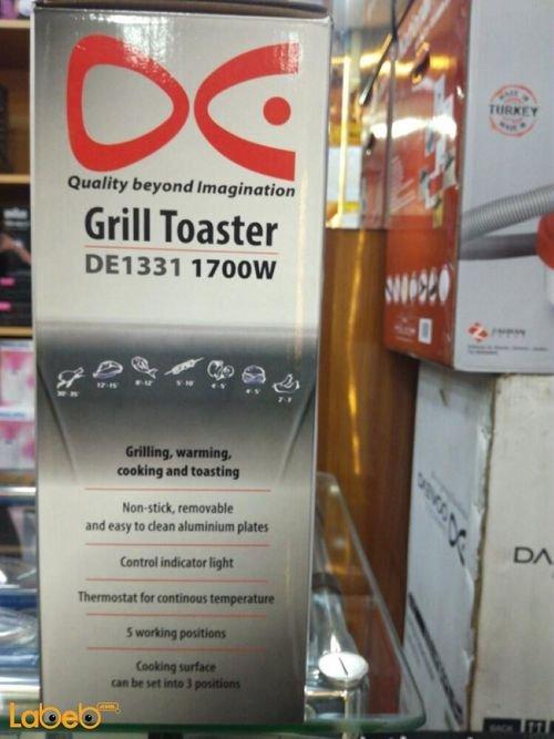 Daewoo Grill Toaster 1700W 5 working positions DE1331 model