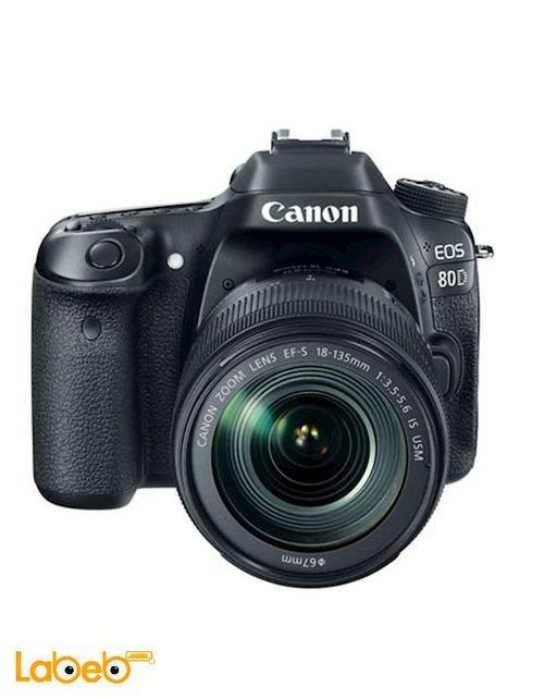 Canon EOS-80D DSLR Camera 18-135mm 24.2MP 3Inch Black Color