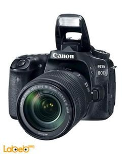 Canon EOS-80D DSLR Camera - 18-135mm - 24.2MP - 3Inch - Black Color