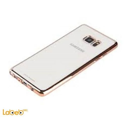 Viva madrid case for Galaxy Note 7 mobile Transparent with golden sides