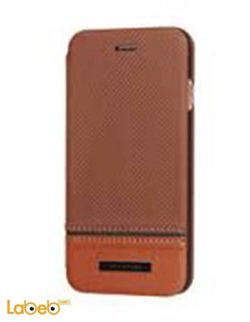 غطاء Viva madrid مناسب للايفون 6 بلس لون بني مع ستاند