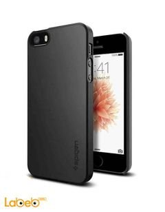 Spigen Mobile Cover - For iPhone 5/5S - Black color - Slim fit