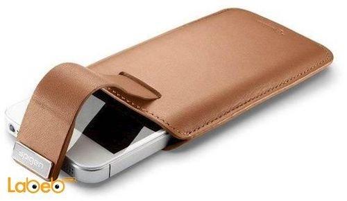 غطاء SPIGEN مناسب لموبايل ايفون 5 لون بني مغناطيسي