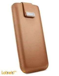 Spigen Cover - For iPhone 5 smartphone - Brown color - Magnetic
