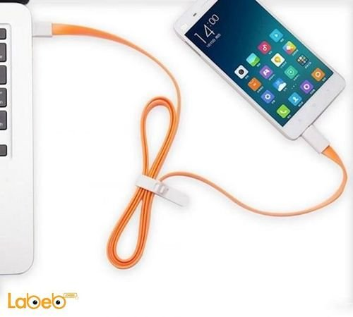 VOJO Cable charger for iphone devices 1.2m Orange
