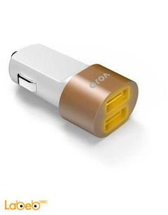 VOJO Car Charger - Dual USB - Brown color - Universal