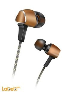 Audionic Earphone Panache - 1.2m length - Brown - LT-108