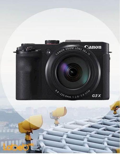 كاميرا كانون الرقمية حجم 3 بوصة لون أسود موديل PowerShot G3X