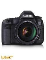 كاميرا كانون الرقمية حجم 3.2 انش أسود موديل EOS 5D Mark III KIT