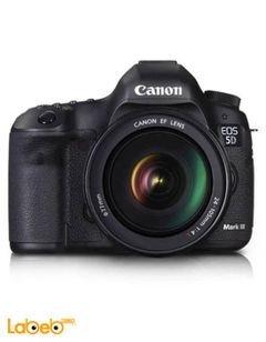 كاميرا كانون الرقمية - حجم 3.2 انش - أسود - موديل EOS 5D Mark III KIT