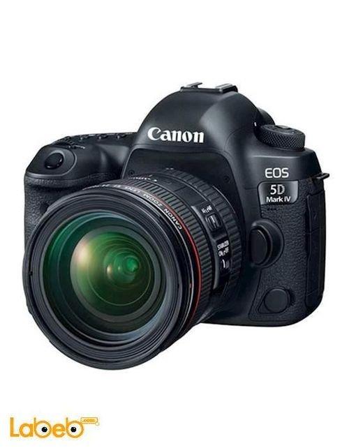 كاميرا كانون الرقمية 3.2 أنش أسود EOS 5D Mark IV Kit 24-70 f/4L