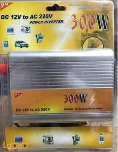 PM Car Powe Inverter - Usb port - 300W - 220V - Red color