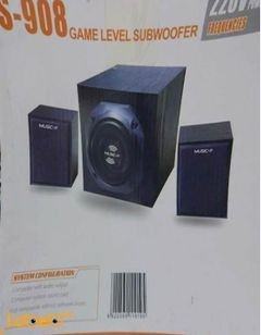 Music-F Game Level Subwoofer - 25W - Black color - S-908 model