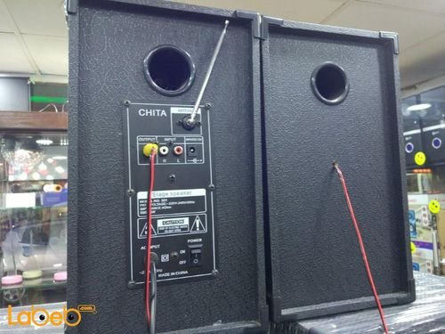 سماعات دي جي Chita حجم 5 انش بلوتوث جهاز تحكم أسود