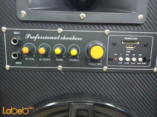 ABS DJ speaker 10inch size USB/SD/FM Black color