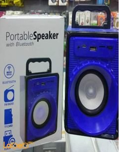 Portable speaker with bluetooth - USB flash - SD card - Blue