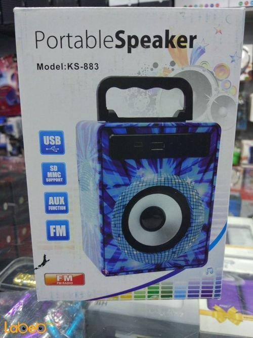 Portable Speaker wireless 5 watt blue design KS-883