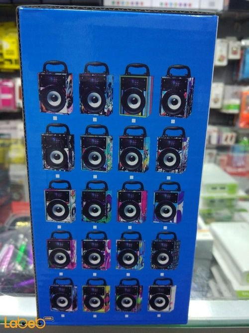 مكبر صوت محمول خشبي USB كرت SD منفذ MP3/AUX أخضر موديل BGH-50