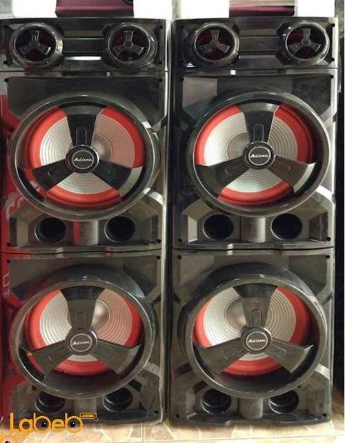 سماعات دي جي Ailiang حجم 10 انش دبل يو اس بي لون أسود وأحمر