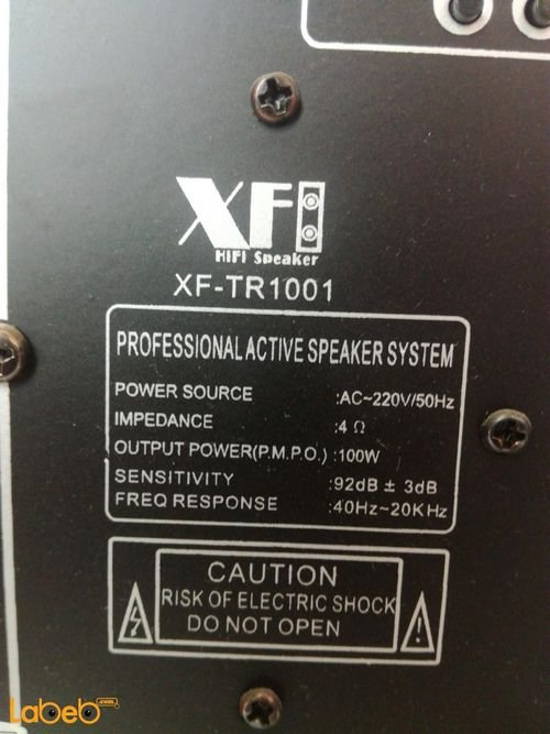 XFORM Speaker system with microphone specifications 100W XF-TR1001