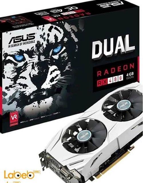 كرت شاشة أسوس 8 جيجابايت 1325 ميجاهيرتز موديل Radeon RX480