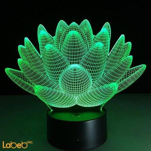 مصباح أضواء ليد ثلاثي الأبعاد 0.5 واط لون أخضر للديكور