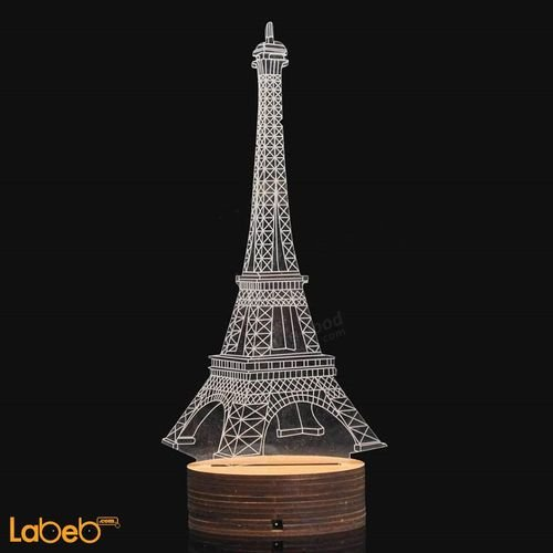 مصباح أضواء ليد ثلاثي الأبعاد 0.5 واط لون أبيض للديكور