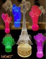 مصباح أضواء ليد ثلاثي الأبعاد 0.5 واط ألوان عديدة للديكور