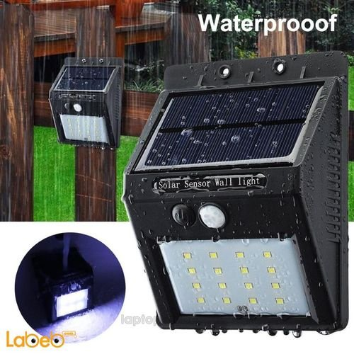 External light works on solar energy with Motion sensor waterproof