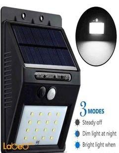 ضوء خارجي يعمل على الطاقة الشمسية - جهاز استشعار حركة - ضد الماء