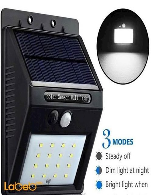 External light works on solar energy Motion sensor waterproof