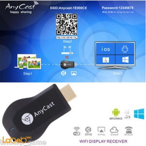 Anycast WiFi Receiver HD HDMI 1.4 mobile & computer M2 Plus model