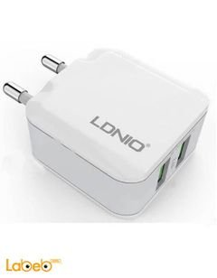 Ldnio 2.4A Dual USB Home/Travel Charger - White - A2201