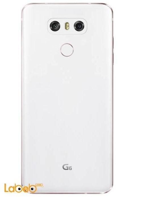 خلفية موبايل ال جي G6 ذاكرة 64 جيجابايت 5.7 انش أبيض