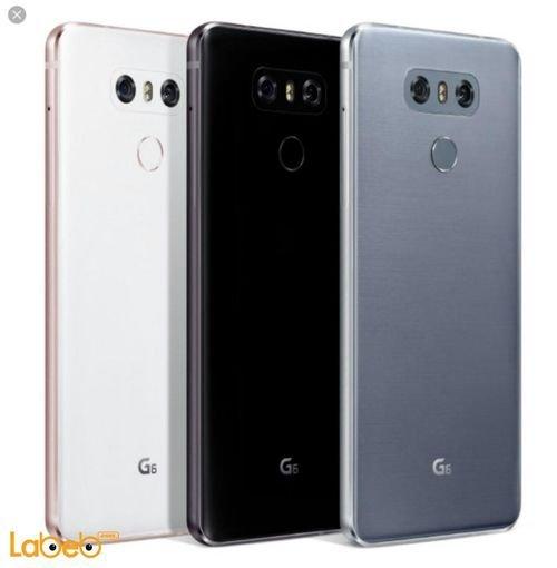 خلفية موبايل ال جي G6 ذاكرة 64 جيجابايت 5.7 انش لون أسود