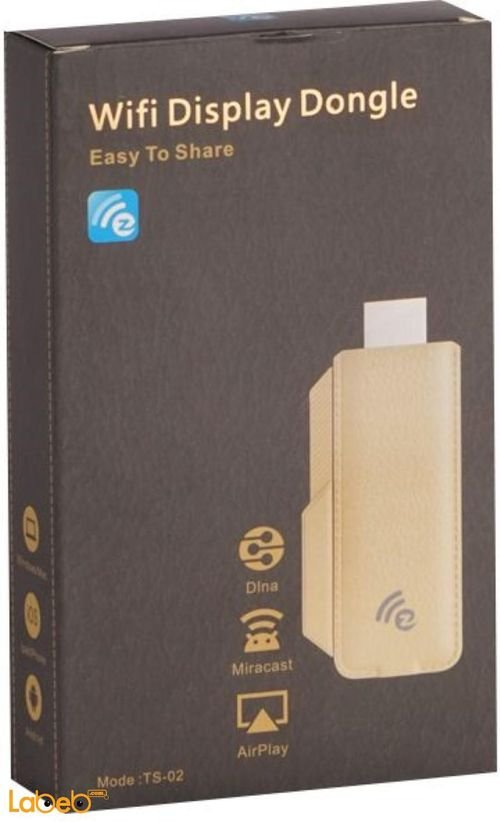 محول انترنت دونغل فل اتش دي 1080 بكسل ذهبي موديل TS-02