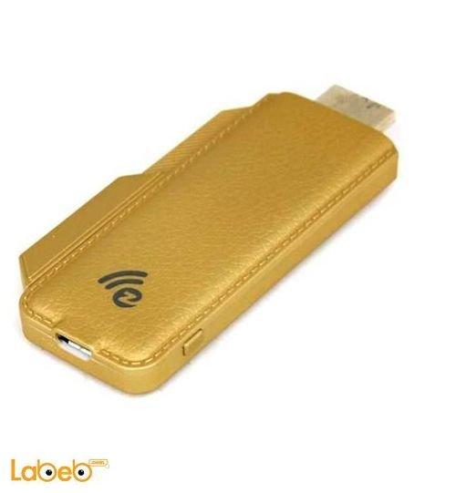 محول انترنت دونغل فل اتش دي 1080 بكسل لون ذهبي TS-02