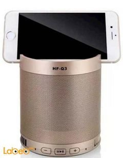 Portable Bluetooth Wireless Speaker - 5W - 1200mAh - Gold - HF-Q3