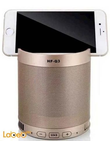 سماعة بلوتوث لاسلكية محمولة - 5 واط - 1200mAh - ذهبي - HF-Q3